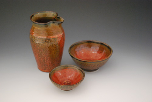 Small Pitcher & Bowls