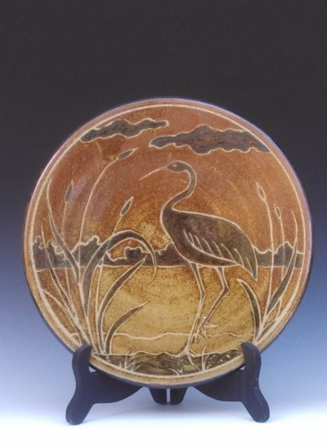 Medallion with heron