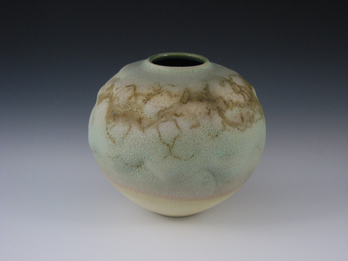 Green Crater Vase