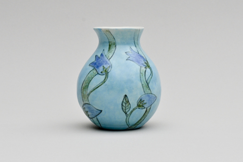 Vase with bluebells