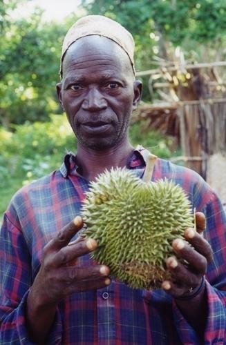Zanzibar Resident Holding Duran Fruit