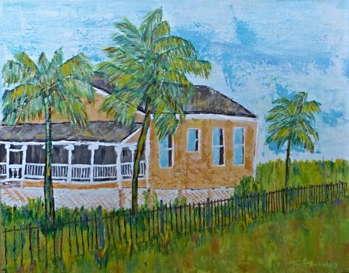 Peach Coastal Cottage