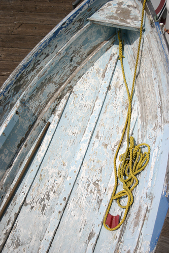 Blue Boat, Yellow Rope