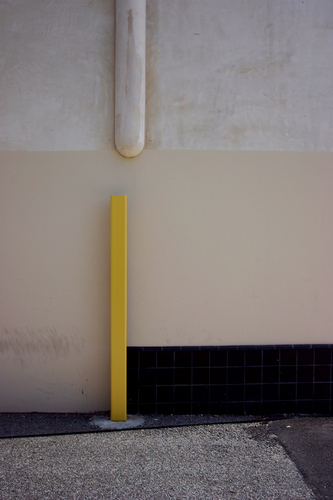 Yellow Pole Black & Tan Wall