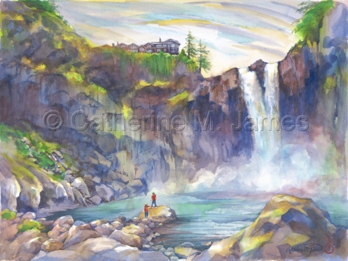 Snoqualmie Falls Prints by Catherine M. James