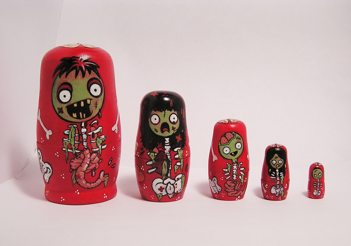 Zombie Nesting Dolls (large view)