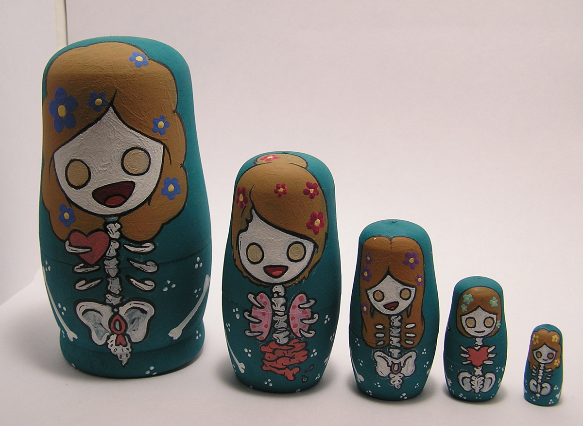 Corpse Girl nesting dolls (large view)
