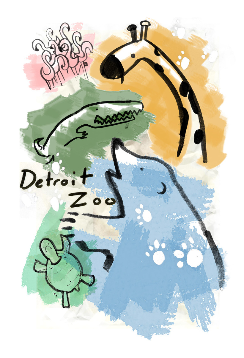 Detroit Zoo poster (large view)