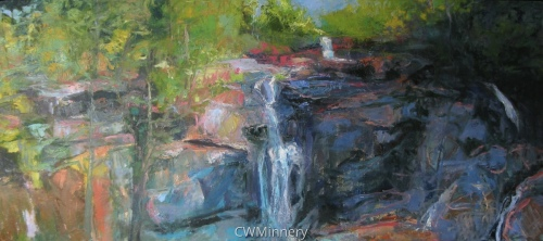 Bastion Falls /Catskills by             Catherine Wagner Minnery
