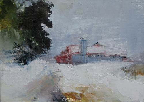 #9 (barn on middleline) by             Catherine Wagner Minnery