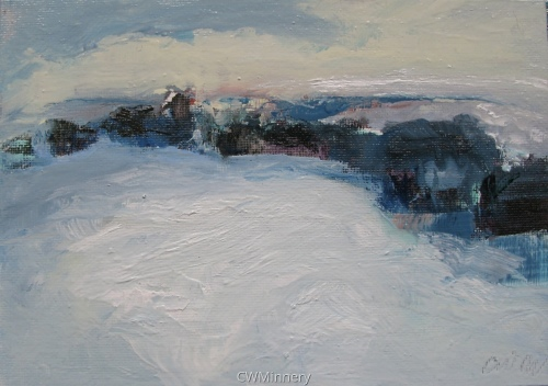 #6 (winter drive) by             Catherine Wagner Minnery- fine artist/painter