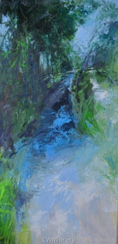 Canal Path by             Catherine Wagner Minnery- fine artist/painter