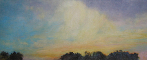 Sunset Over Polo Fields by             Catherine Wagner Minnery- fine artist/painter