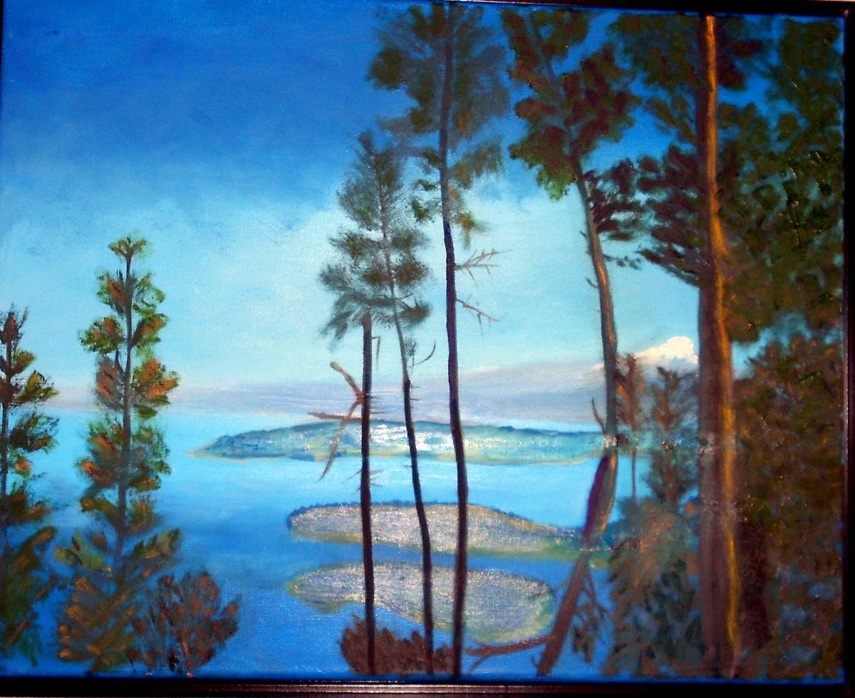 """""""San Juan Islands""""  (large view)"""