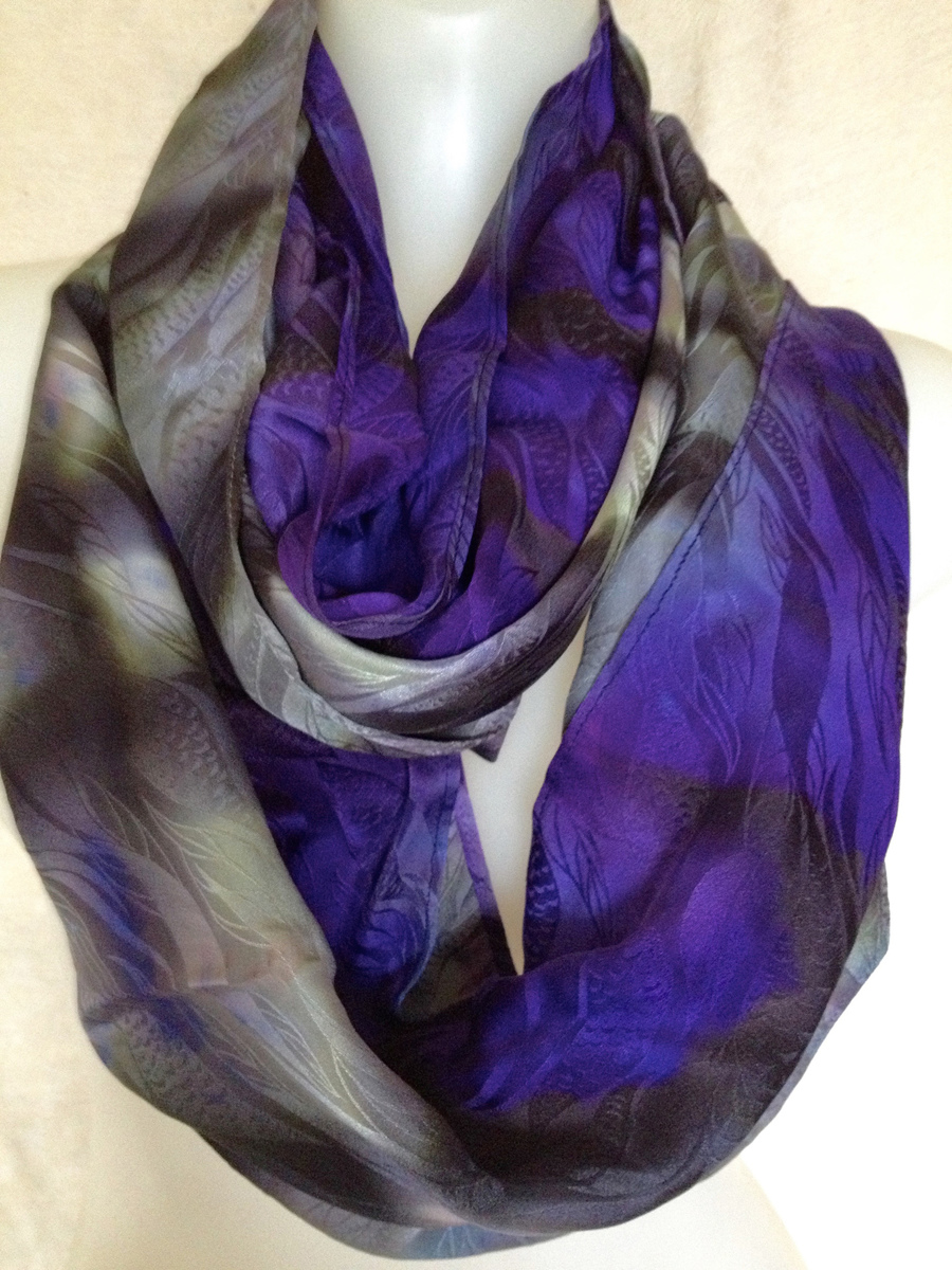 Regal Silk Infinity Scarf (large view)