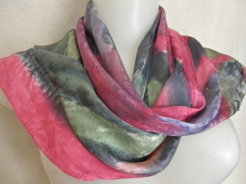 Carnation Passion silk scarf (large view)
