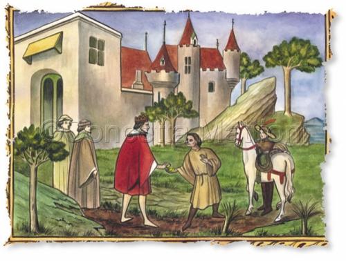 Medieval Illustration by Concetta Mattioni