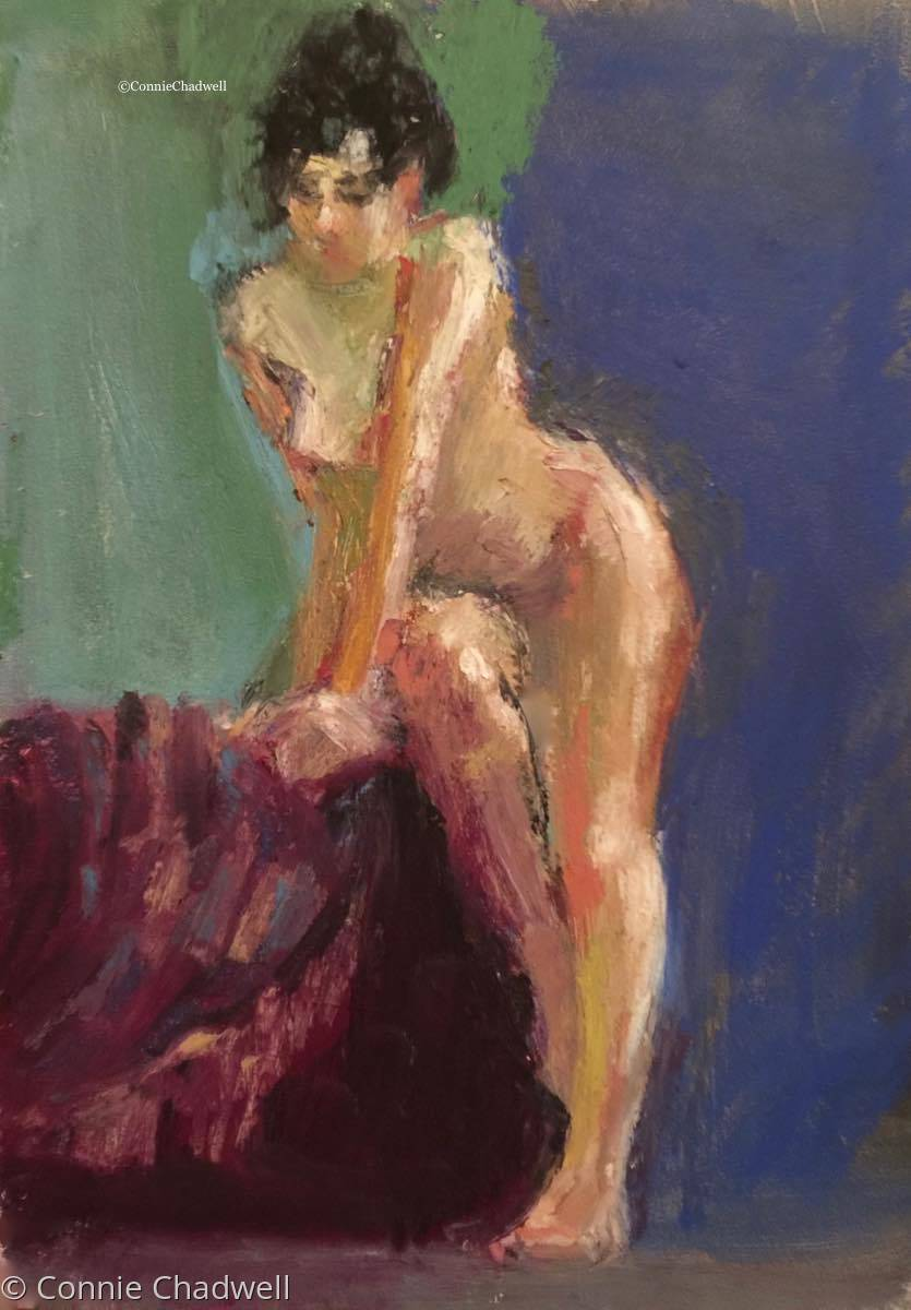 """""""Nude on Blues"""" (large view)"""