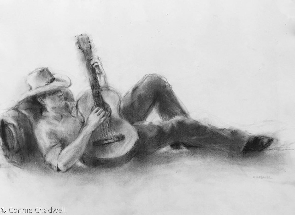 """Cowboy and His Guitar"" (large view)"