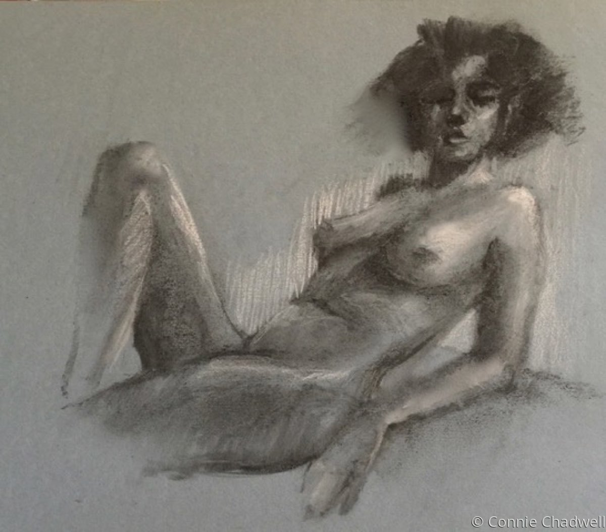 """""""Nude on Blue-Grey Paper"""" (large view)"""