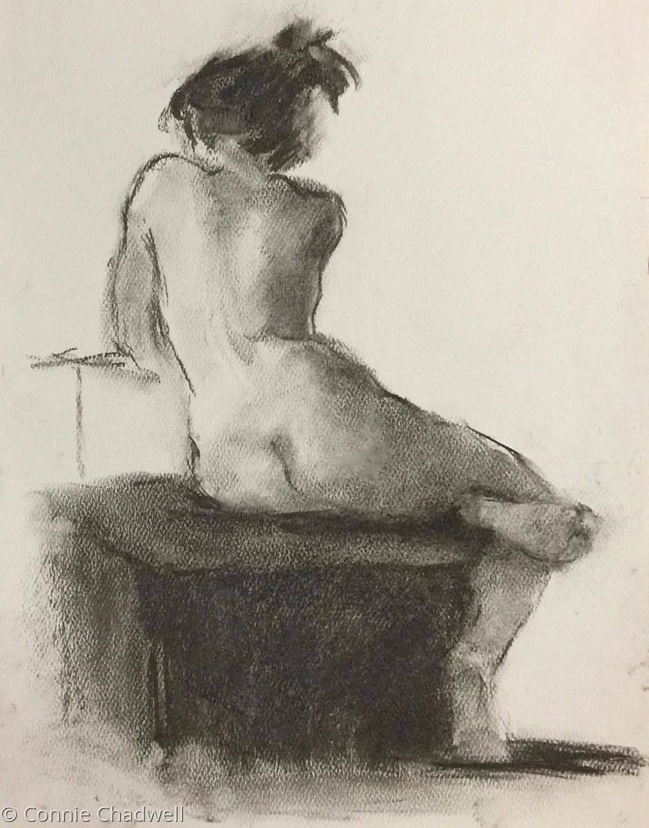 """""""Nude on Grey #3"""" (large view)"""