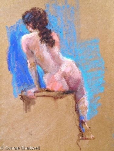 """Nude on Blues"""