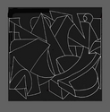 Drawing for linear wall relief sculpture (thumbnail)