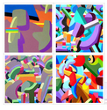 Four 'Construct'  paintings (thumbnail)