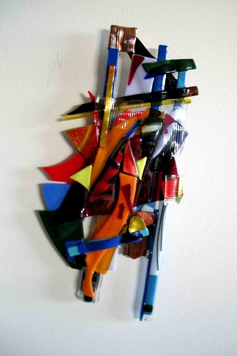 Dichroic Freeform Wall Sculpture