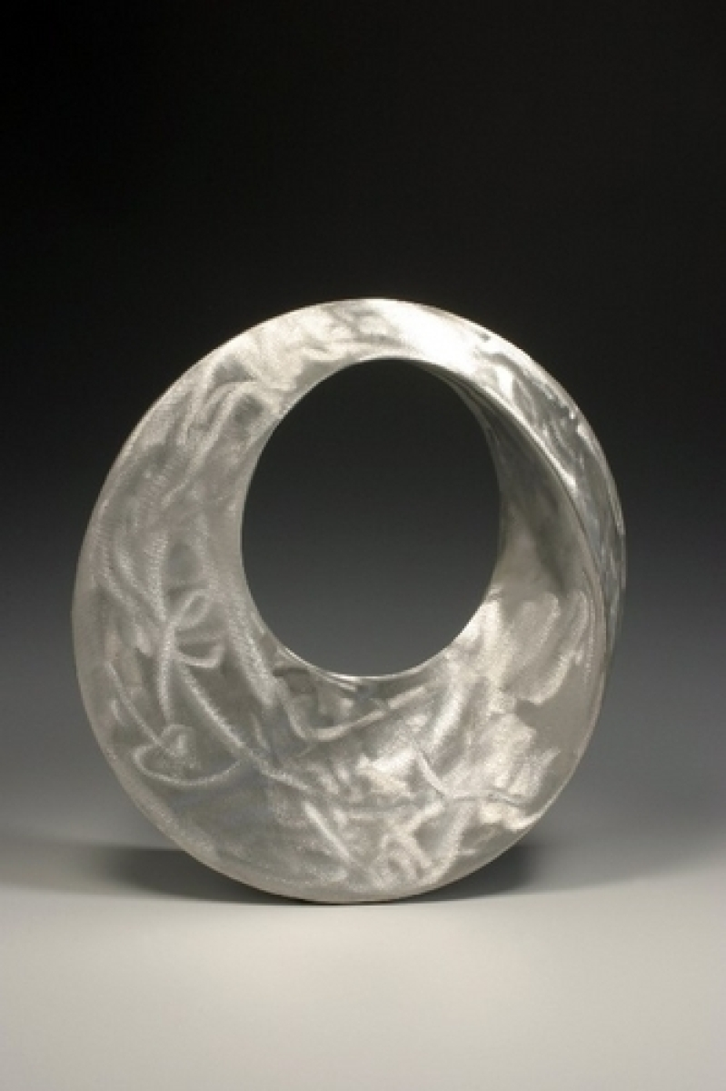 Brushed Aluminum Infinity Ring by Charles Sherman (large view)