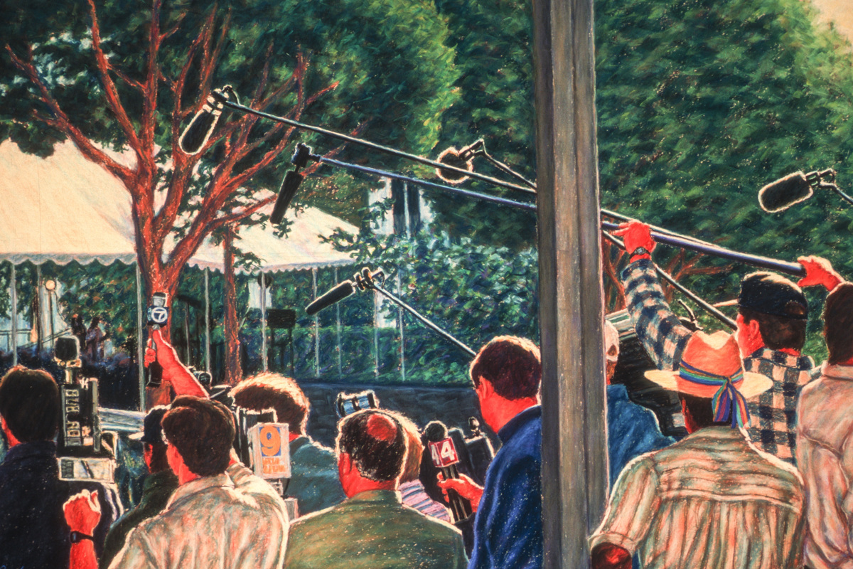 """Media in the Morning""- Original SOLD (large view)"