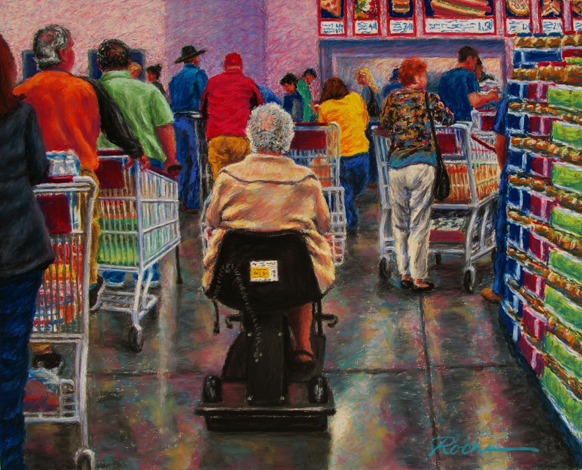 """Saturday at Costco"" (large view)"