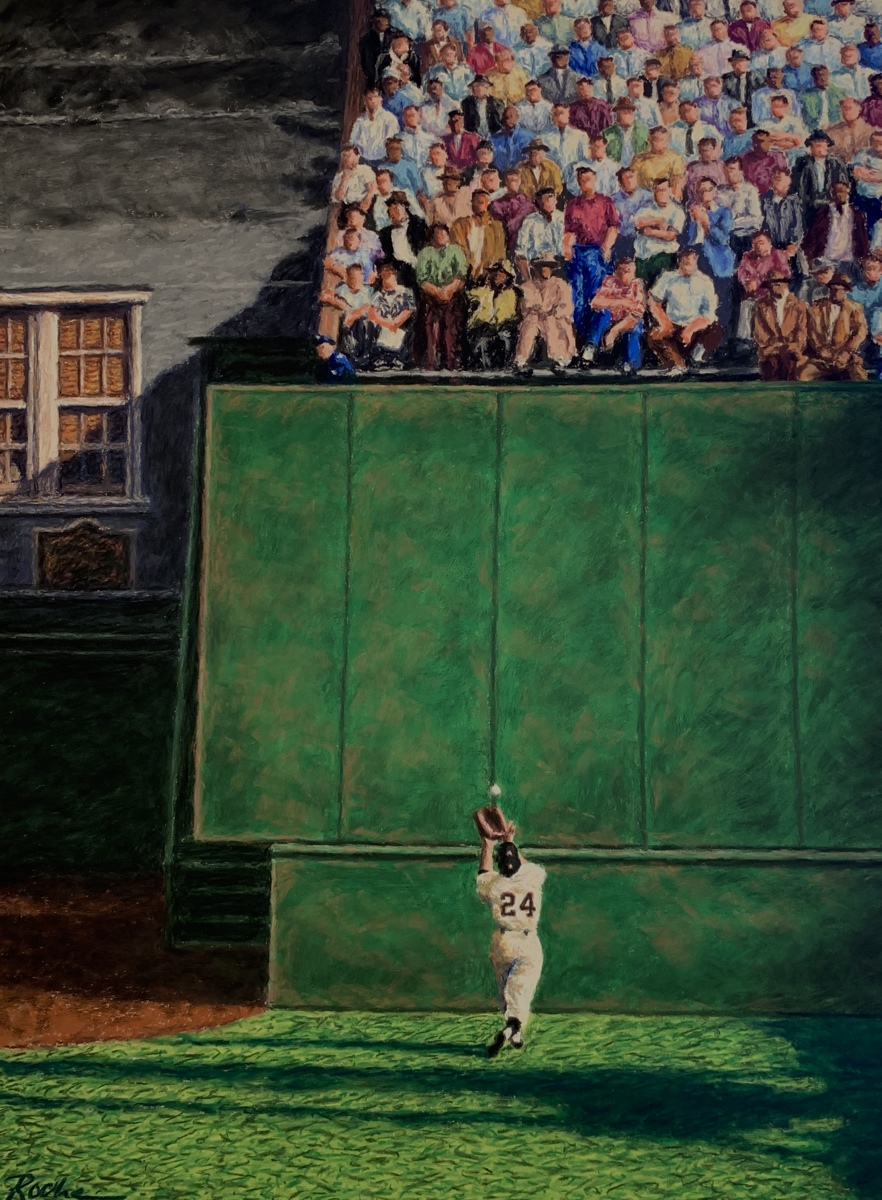 """The Catch at the Polo Grounds""- Original SOLD (large view)"
