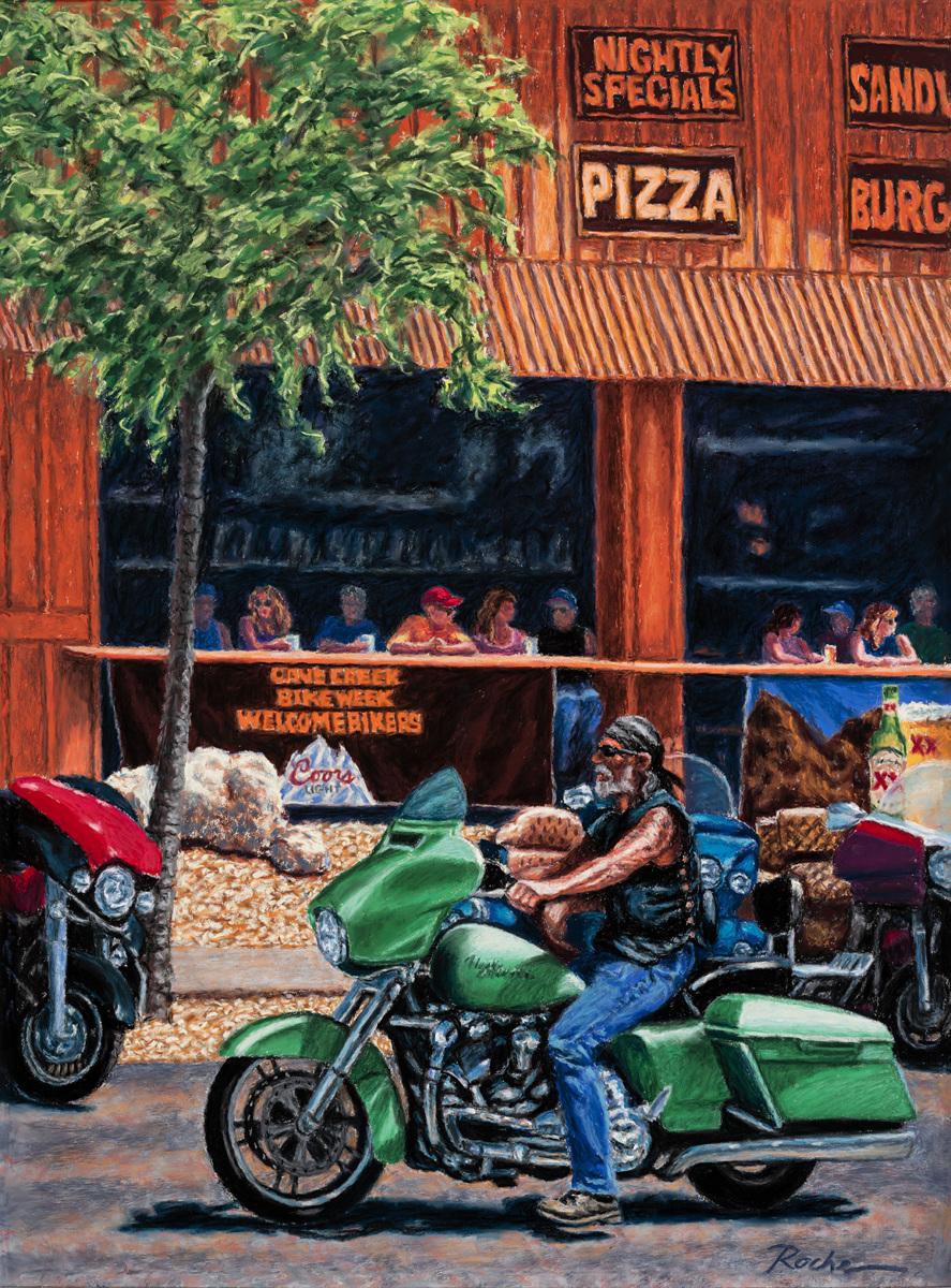 """""""Bike Week in Cave Creek"""" (large view)"""