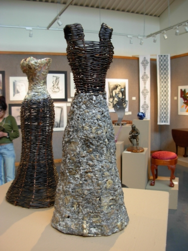 Woven Metal Dress Form Sculptures
