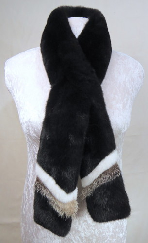 """Sea Otter Scarf, """"Baleen Black"""" by CHRISTY RUBY"""