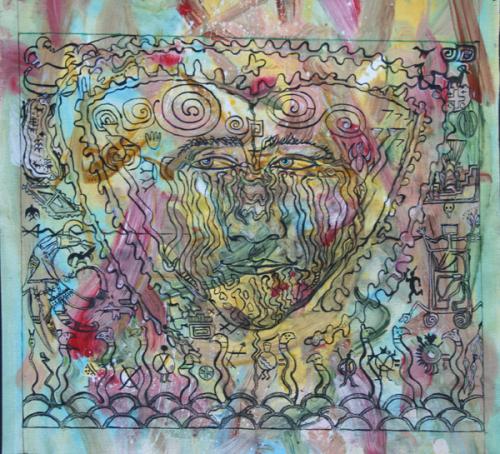 Petroglyph Mandala Study VII