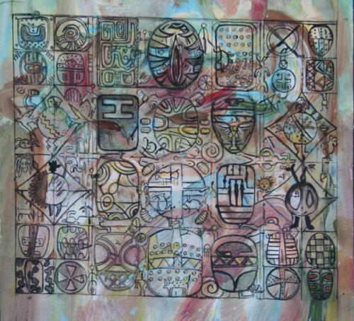 Petroglyph Mandala Study VIII