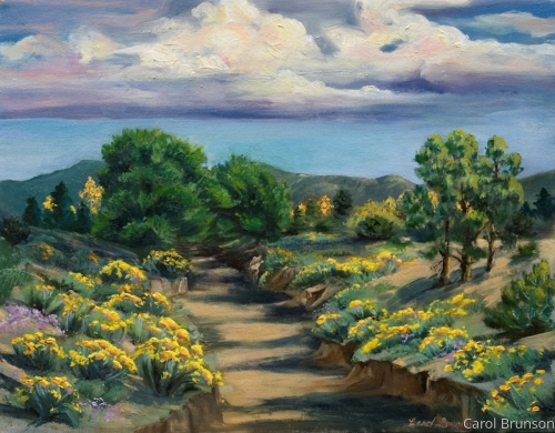 Santa Fe Arroyo by Swann Fine Art