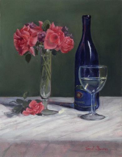 Wine and Roses by Swann Fine Art