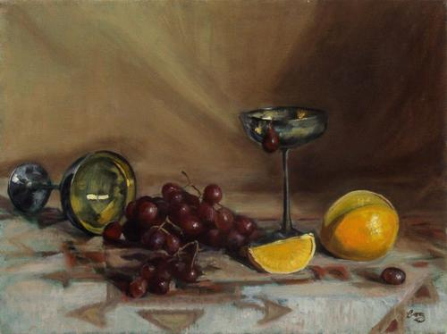 Goblets and Grapes (large view)