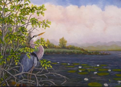 On Alert - Great Blue Heron