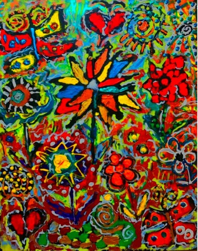 GARDEN PARTY 2 by Famous Thames Original Paintings