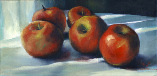 Afternoon Light with Apples, Study by Carol Tippit Woolworth