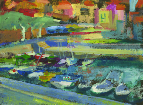 Collioure #1 Gouache by Carol Tippit Woolworth