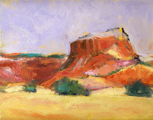 Red Butte, oil study