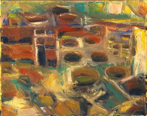 Bonita Pueblo study 1 by Carol Tippit Woolworth