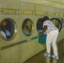 Woman unloading Dryer