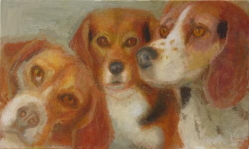 Millie,Peanut and Lizzie by Carla Tudor