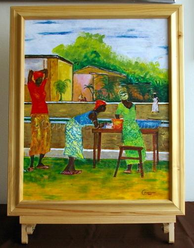 Kente Seller by Curtis  Kojo Morrow